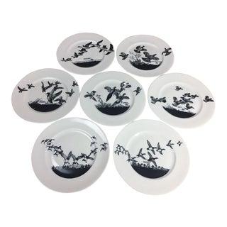 Lynn Bogus Hunt Bird Plates - Set of 7
