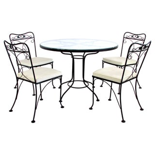 Lyon-Shaw Outdoor Dining Set With Table & 4 Chairs