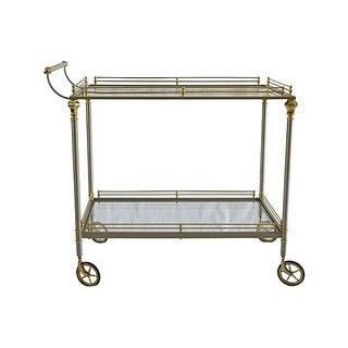 Maison Jansen Style Italian Brass Bar Cart