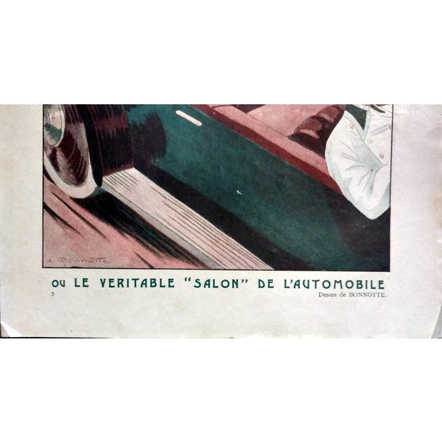 "Image of Leon Bonnotte 1923 Fantasio ""5:00 The Tea-Walk Car Show"" Print"