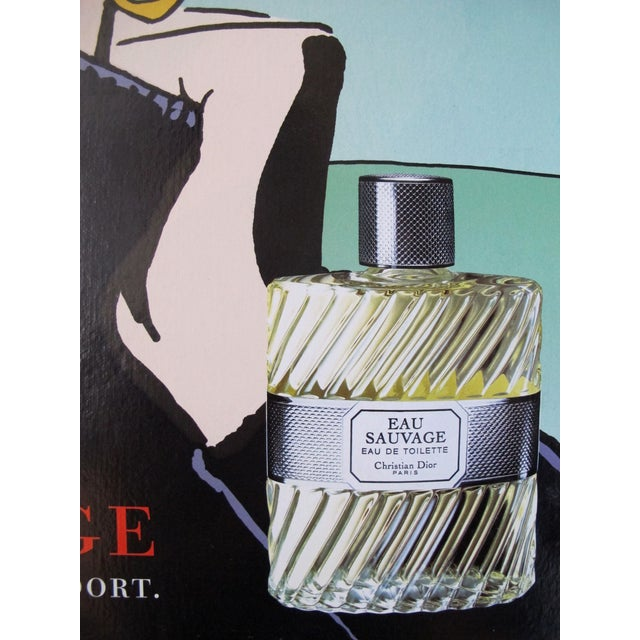 Image of Dior Eau Sauvage Men's Perfume Ad Poster