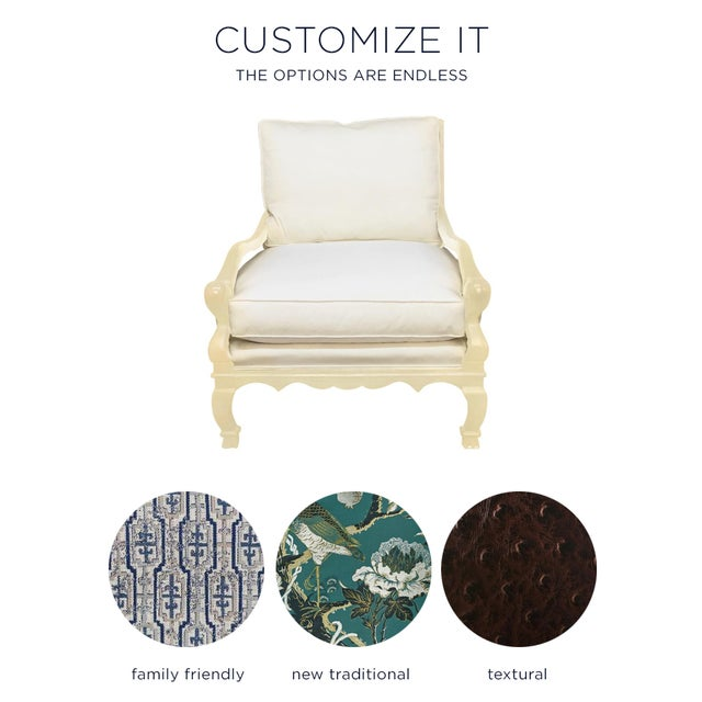"Image of ""Gentleman's"" Chair + Custom Upholstery Service"