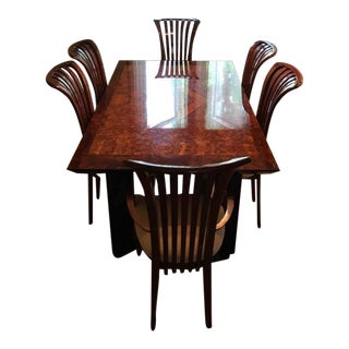 Italian Constantini Pietro Lacquer Dining Table & Chairs - Set of 7