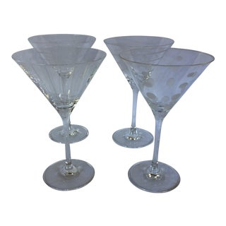 Mikasa Crystal Martini Glasses - Set of 4