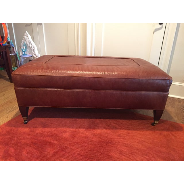 Custom Ottoman in Alligator Leather - Image 2 of 3