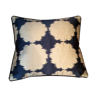 Navy and Beige Pillows - Set of 2