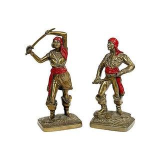 Bronze Viking Statues - A Pair
