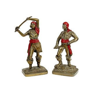 Bronze Viking Statues - A Pair