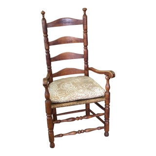 Hickory Straight Back Chair