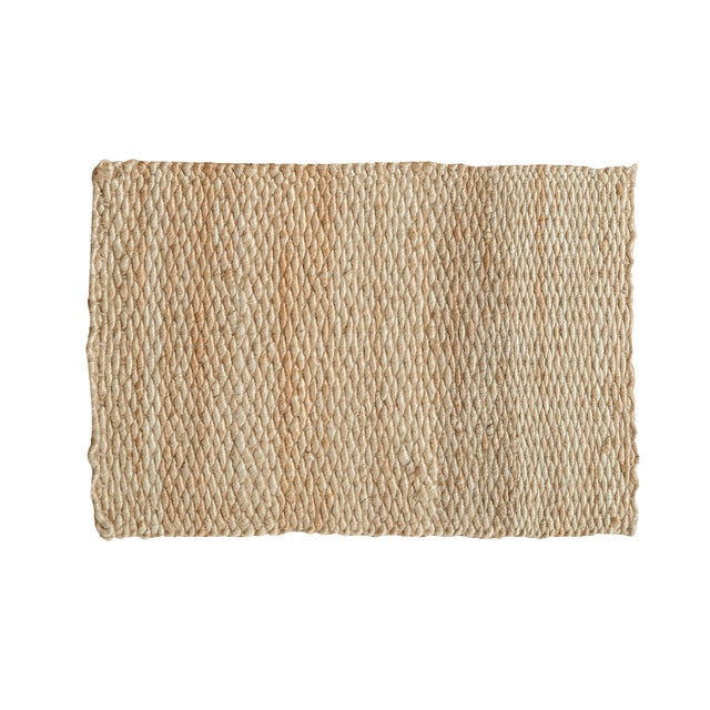 "Hand Braided Ivory Entrance Mat - 2'2"" X 3'2"" - Image 1 of 2"