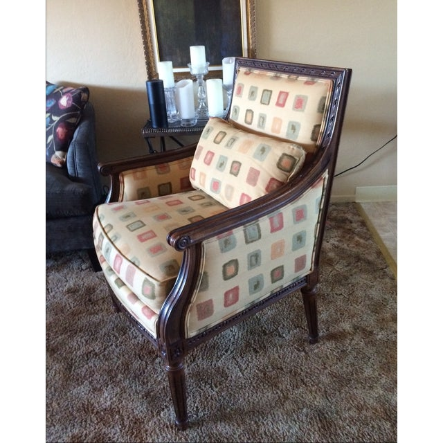 Ethan Allen Neoclassical Style Accent Chairs- Pair - Image 4 of 7
