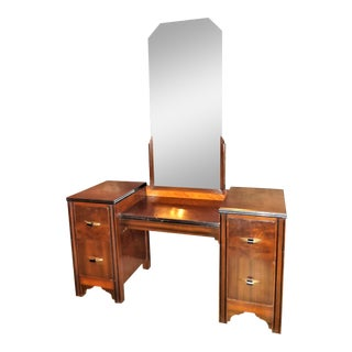 Vintage Art Deco Maple Vanity