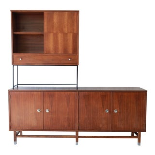 Mid-Century Walnut and Rosewood Wall Unit by Stanley