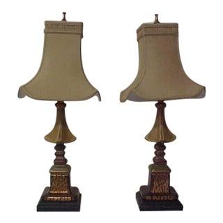 Faux Leopard Trim Table Lamps - A Pair