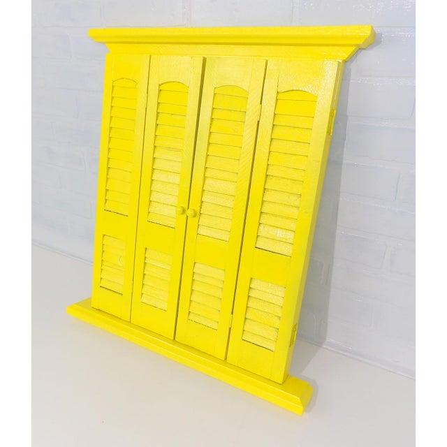 Yellow Window Pane Wall Mirror - Image 3 of 9
