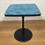 Image of MCM Aqua Blue End Table