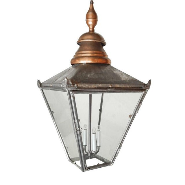 Large Copper and Zinc French Lantern - Image 1 of 8