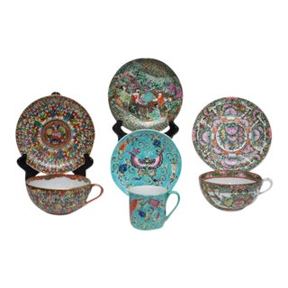 Antique Cups & Saucers - Set of 7