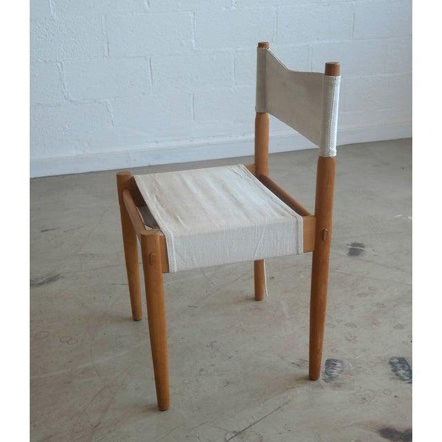 Danish Modern White Dining Chairs - Set of 6 - Image 3 of 10
