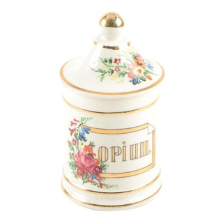 Vintage Japanese Porcelain Opium Apothecary Jar