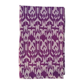 Vintage Purple Ikat Kantha Throw