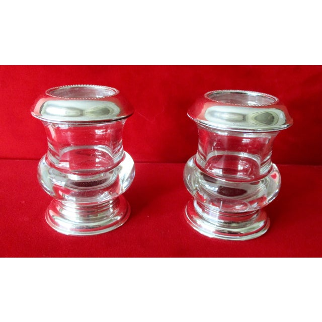 Vintage Silver & Glass Mini-Urn Vases - A Pair - Image 7 of 7