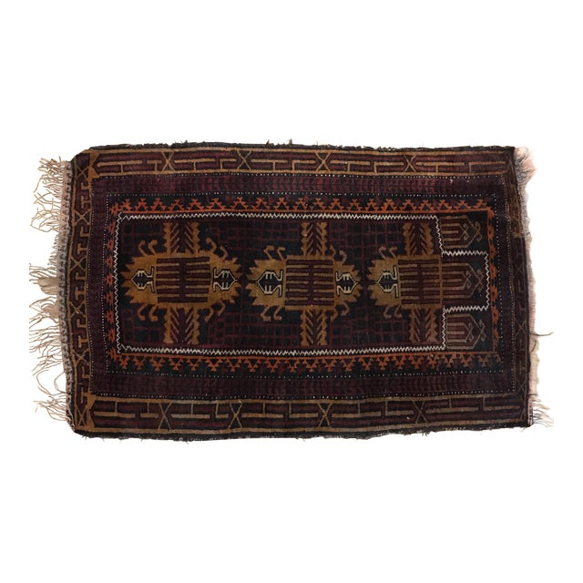 """Wool Pile Hand Knotted Pakistan Rug - 2'10"""" X 4'9"""""""