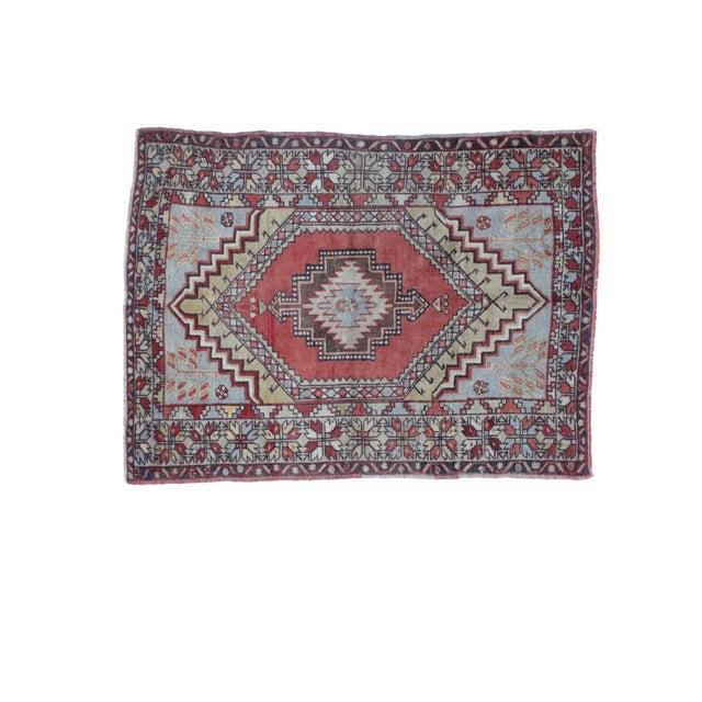"Image of Leon Banilivi Oushak Wool Rug- 3'7"" X 4'10"""
