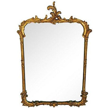 Antique French Gilt & Gesso Mirror - Image 1 of 7