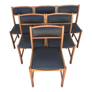 Danish Modern Teak Dining Chairs - Set of 6
