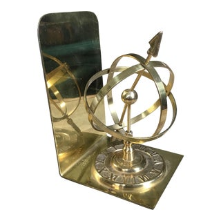 Vintage Brass Armillary Bookend