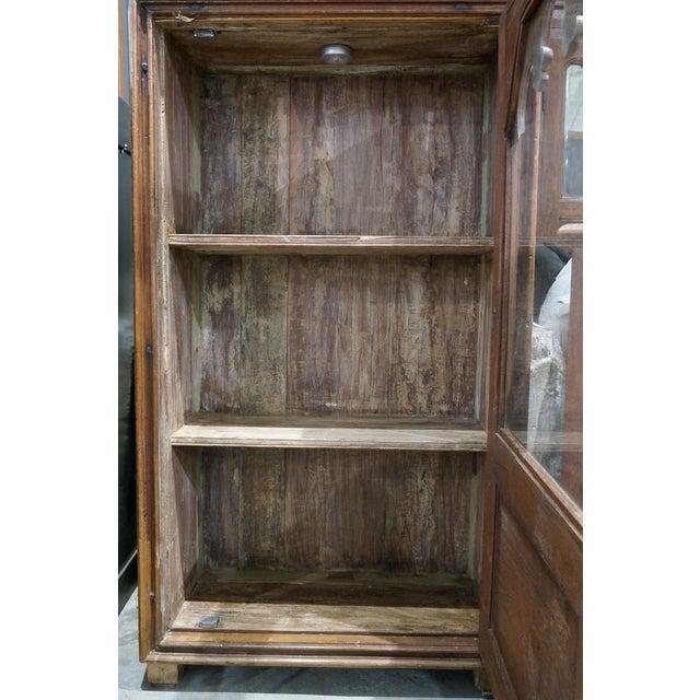 Image of Vintage Hand Carved Teak Cabinet