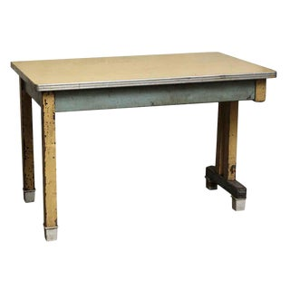 Wooden Work Table With Formica Top