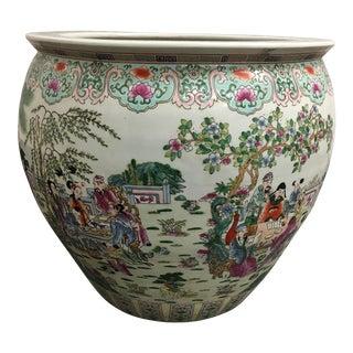 Handpainted Chinese Koi Ceramic Vessel