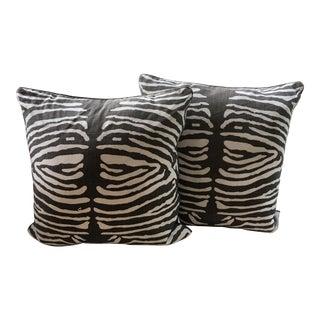 Zebra Linen Pillow