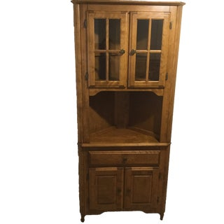 Canadel Solid Birch Kitchen Corner Hutch