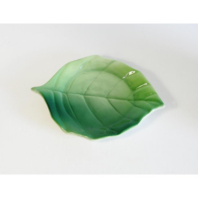 Majolica Orange Cup and Leaf Saucer - Image 5 of 6