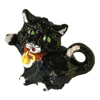 Vintage Black Kitty Cat Teapot by Price Kensington England