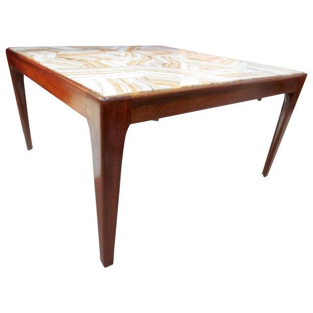 Ed Wormley Dunbar Travertine Coffee Table - Image 1 of 9