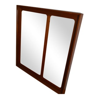 Askel Kjensgaard Large Danish Teak Storage Mirror
