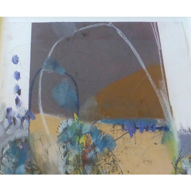 Large Abstract Mid-Century Painting - Image 7 of 11