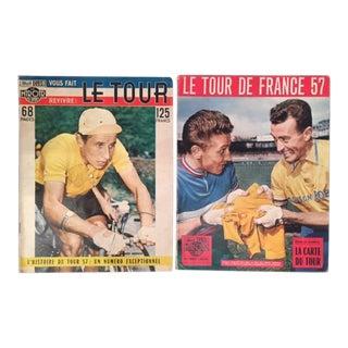 Original 1957 Tour de France Magazines - A Pair