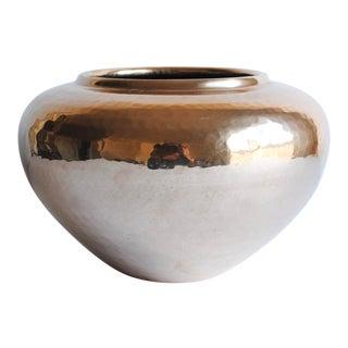 Vintage Hammered Brass Vase