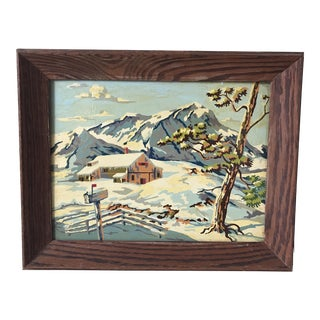 "Paint by Number ""Winter Scene"""