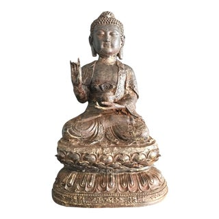 Antique Cast Iron Buddha Statue