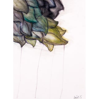 Clif Claycomb Leaf Watercolor & Ink Painting