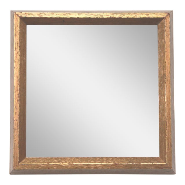 Image of Gold Leaf Square Mirror