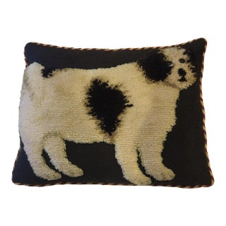 Vaughan Designs of London Needlepoint Dog Motif Accent Pillow