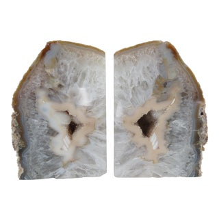 Crystal Geode Bookends - A Pair