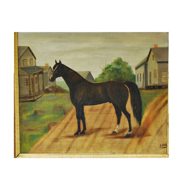Image of 19th-Century Painting of a Horse